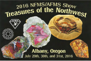 NFMS and AFMS Show Treasures of the Northwest 2016 - Albany Oregon Logo