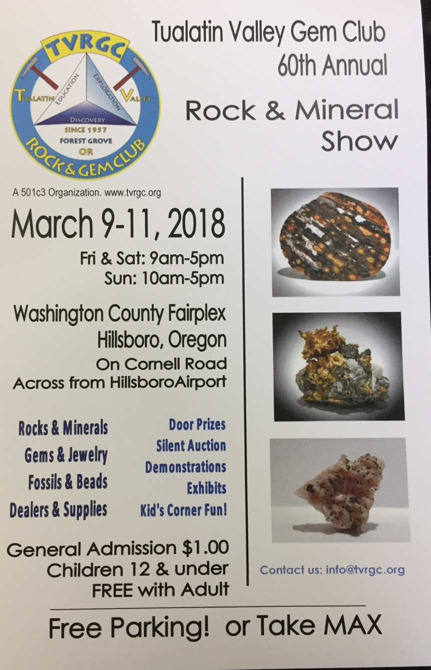 Clubs 60th annual show scheduled for March 9-11,2018.