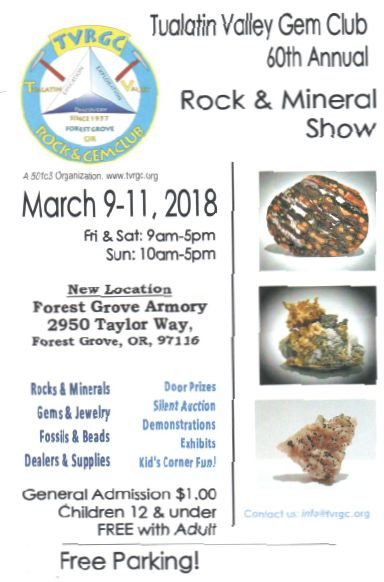 Clubs 60th annual show scheduled for March 9-11, 2018.